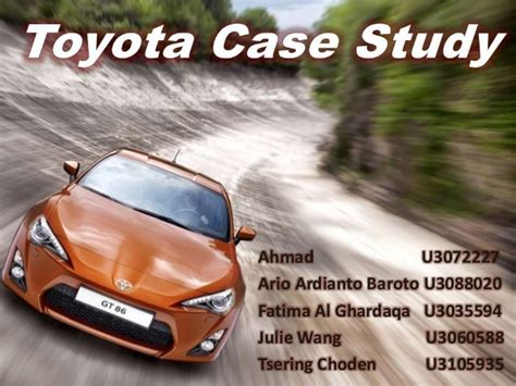Toyota Study Strategic Management Toyota Study