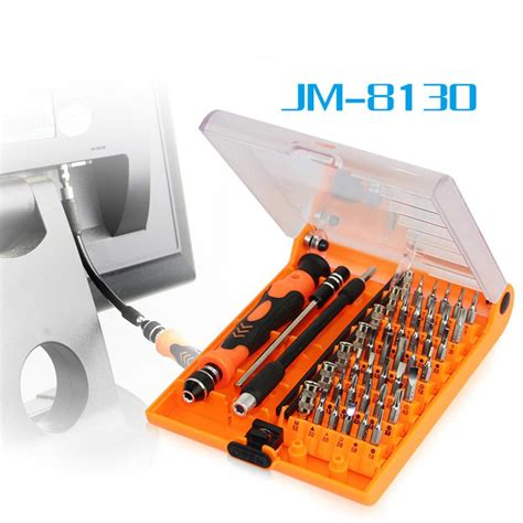 Jakemy 45 In 1 Interchangeable Magnetic Screwdriver Set Jm 8129 jakemy jm 8130 interchangeable magnetic precision 45 in 1 screwdriver set of repair tools for