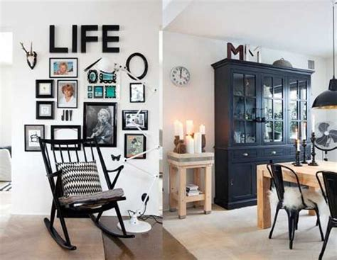 modern ideas bringing black color  country style decor