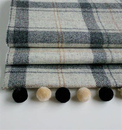 Tweed Blinds winter grey tweed blind by the nursery blind company