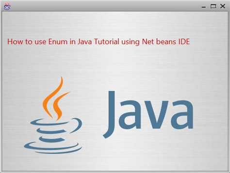 java pattern usage how to use enum in java tutorial using net beans ide