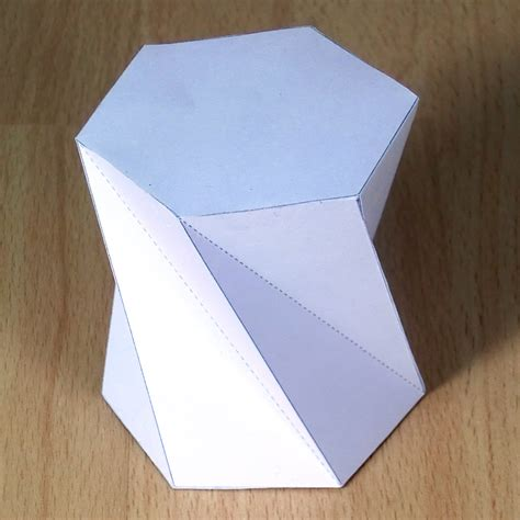 Rectangular Prism Origami - paper twisted hexagonal prisms