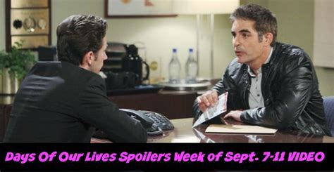 days of our lives dool spoilers chad blamed for paige days of our lives spoilers weekly preview video
