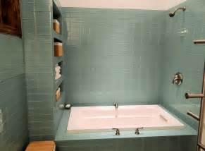 Kohler Bathtub Colors by Sage Green Glass Subway Tile Modern Bathroom Amp Shower