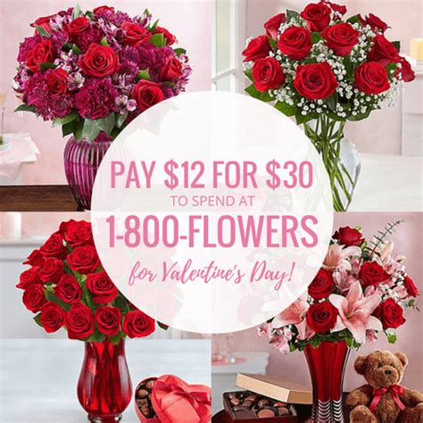 valentines day deals 1 800 flowers deals for s day pay 12 for 30