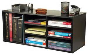 Home Office Desk Top Accessories Desktop Organizer W 6 Adjustable Shelves In B Contemporary Desk Accessories By Shopladder