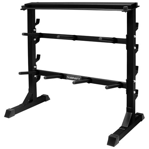 Weight Plate Storage Rack by Mirafit 300kg Weight Plate Bar Rack Storage Stand Holder Dumbbell Barbell Ebay
