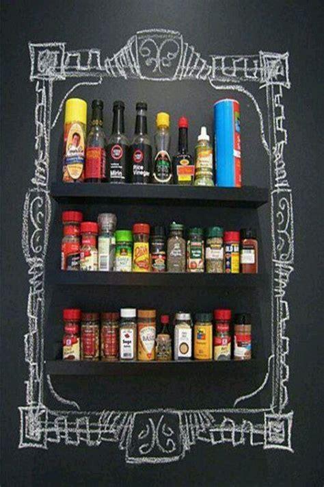 diy chalkboard spice rack diy chalkboard paint ideas spice rack idea kitchen
