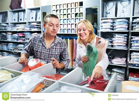 Shop Coules At Clothes Shopping Royalty Free Stock