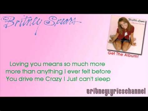 drive you mad lyrics britney spears you drive me crazy on screen lyrics