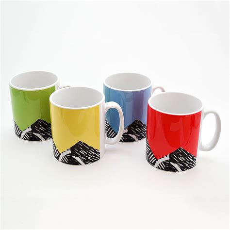 mug designs lino print design mug by knockout notonthehighstreet com