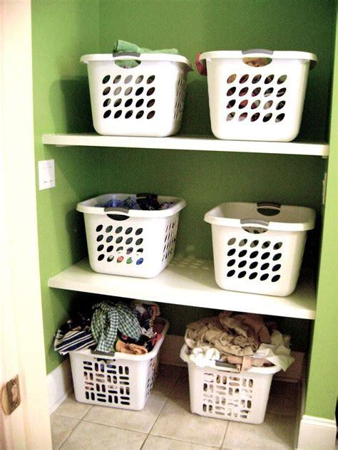 Small And Narrow Laundry Room Storage With Custom DIY Wood