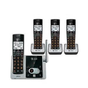 home phone systems at t dect 6 0 cordless 4 handset phone system 7877889 hsn
