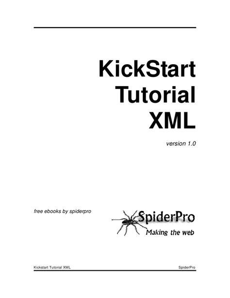 xml tutorial slides kickstart tutorial xml