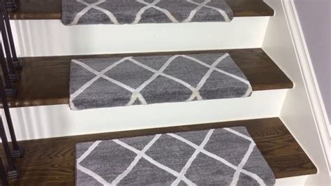 decor enticing bullnose carpet stair treads for your