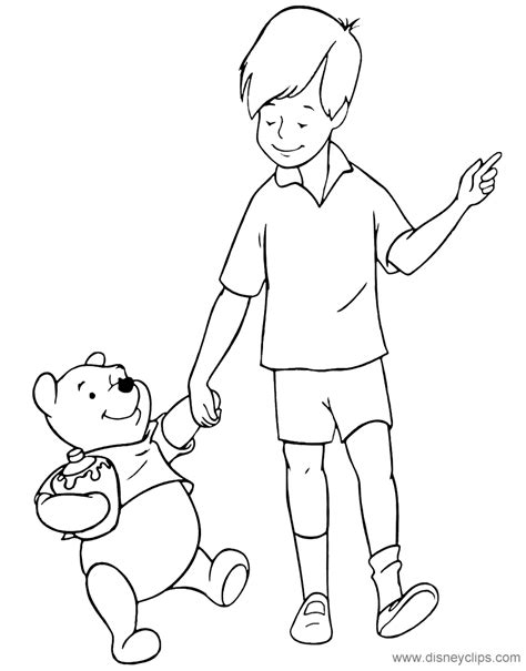 coloring pages of christopher robin winnie the pooh friends coloring pages disney coloring