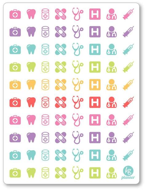 printable dentist stickers assorted doctor dentist appt stickers planner penny