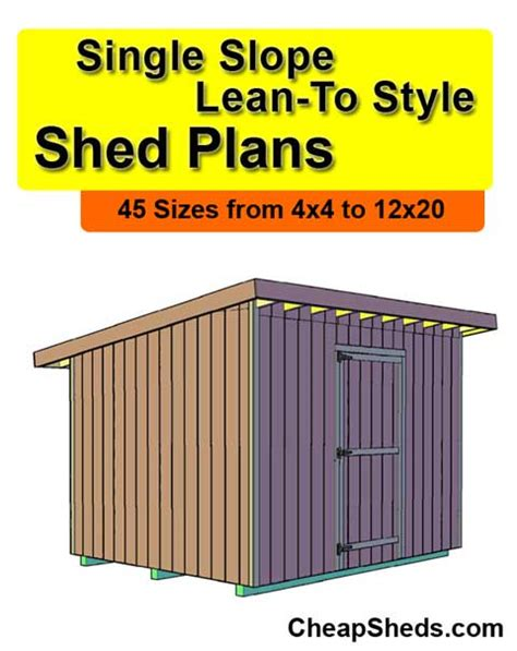 now eol plans for lean to shed free lean to style single slope shed plans with porch 11 95