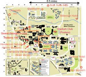 map of colorado college 50th annual conference animal behavior society cu boulder