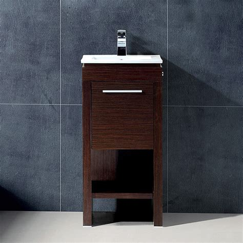 16 deep bathroom vanity vigo 16 inch aristo single bathroom vanity contemporary