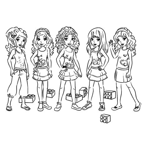 print  lego friends coloring sheet lego coloring