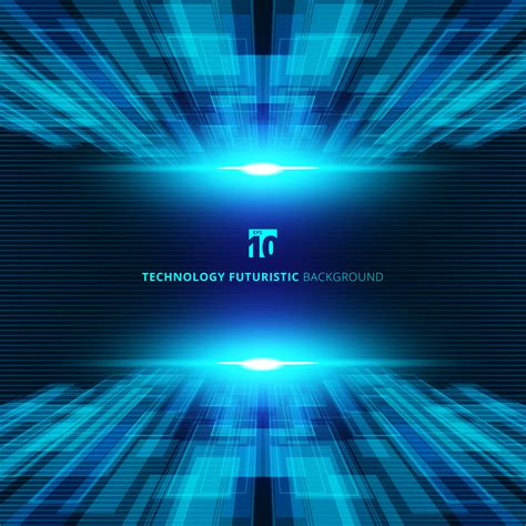 abstract blue virtual technology concept futuristic