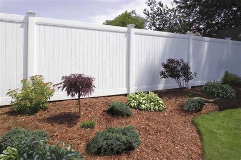 Landscape Ideas Around Fence Triyae White Vinyl Fence Backyard Various Design