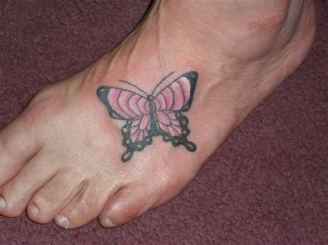 butterfly tattoo on foot butterfly on foot
