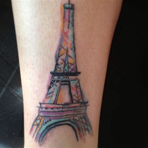 watercolor tattoos paris eiffel tower water color i don t think i would get