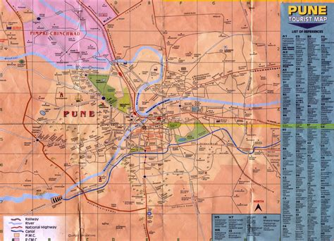 city map of pune pune city map high quality maps of pune city