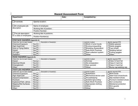 fmea sle worksheet and analysis jsa form template