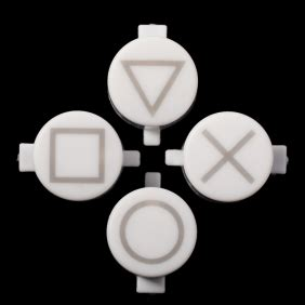 ps4 controller solid white light solid white buttons with symbols for ps4 controller
