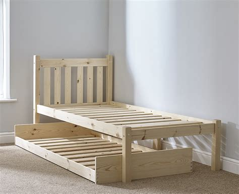 Small Single Bed Frame Amelia 2ft 6 Small Single Length Solid Pine Guest Bed Frame
