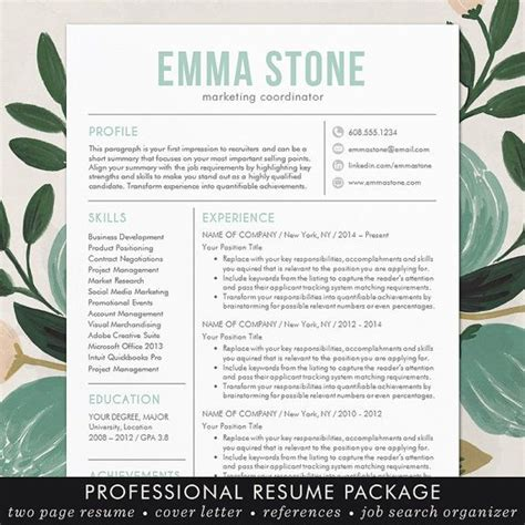 creative resume templates for mac creative resume template modern design mac or pc word