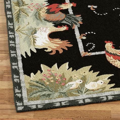 Rooster And Hens Rug Runner Touch Of Class Rooster Rugs