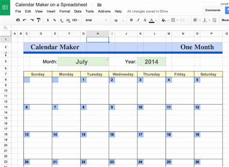 Calendar Template Docs Spreadsheet Google Docs Calendar Spreadsheet Template Qualads
