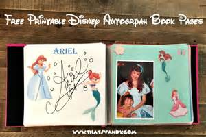 Disney World Autograph Book Template by Disney Autograph Book Free Printable That S Vandy