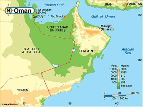 physical map of oman purchase this as a poster