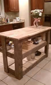 kitchen island made from upcycled barn wood so purrty
