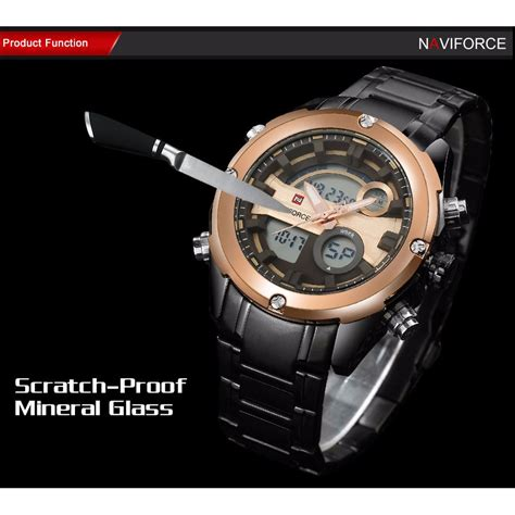 Navi Jam Tangan Analog Digital Pria Cowok Murah Elegan navi jam tangan analog digital pria 9088 black