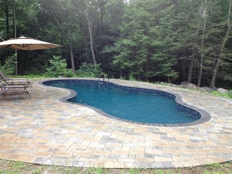 21 x40 mountain lake shape in ground pool with built in