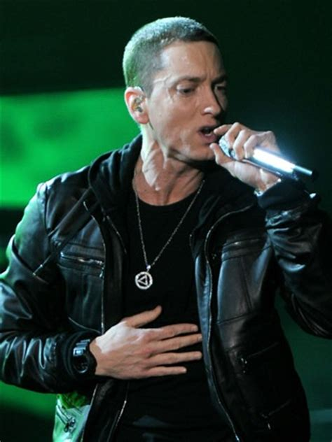 Eminem Wears Sobriety Necklace at Grammys   Hollywood Reporter   The Hollywood Reporter