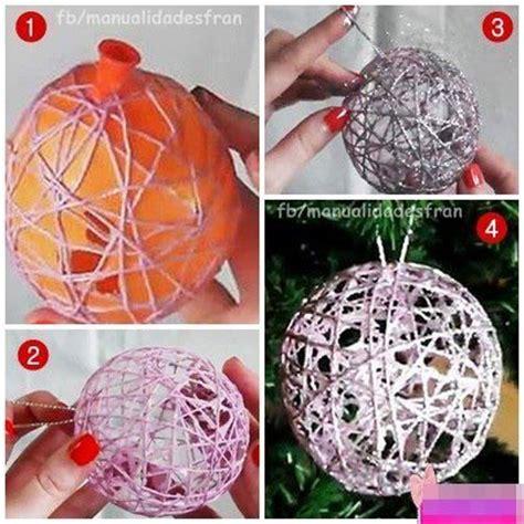 diy glitter twine ornaments 25 diy ornaments thewhitebuffalostylingco