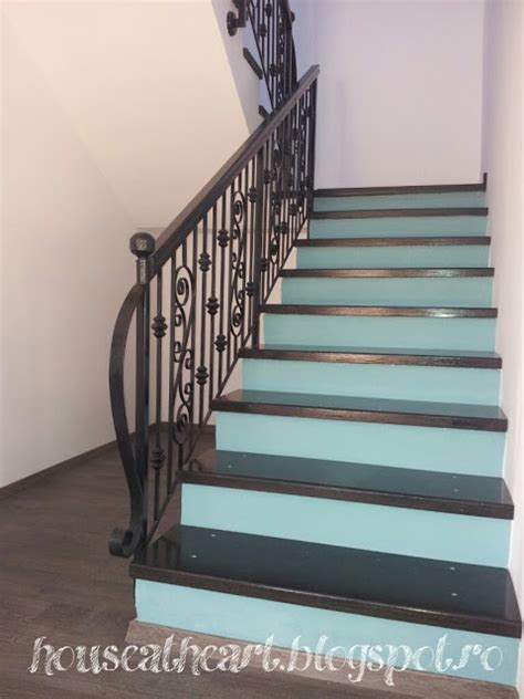 chalk paint steps sloan chalk paint stair risers diy these