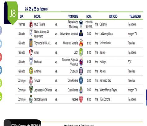 Calendario Liga Bancomer Mx Jornada 17 Calendario Clausura 2017 Estadio Deportes