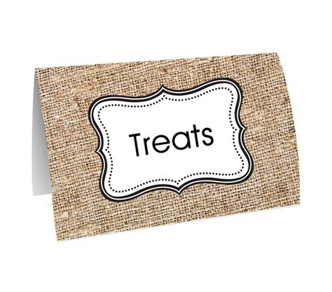 buffet food tags burlap buffet buffets table decoration decorations