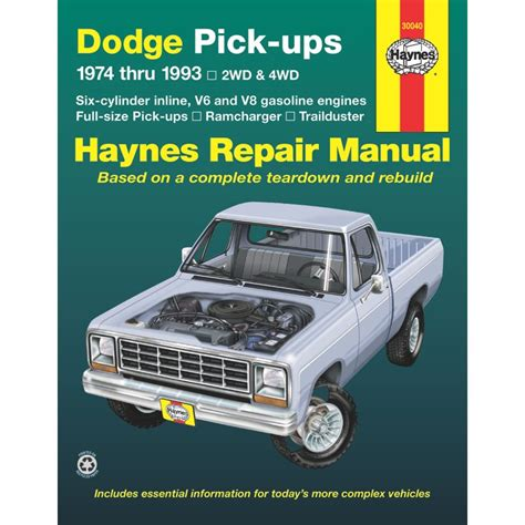 haynes repair manual new ram truck dodge d150 ramcharger d250 w150 30040 ebay