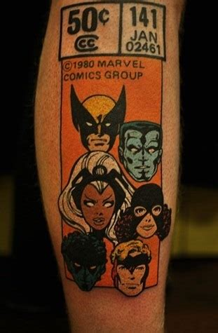 xmen tattoos marvel these epic comic book tattoos skull guff