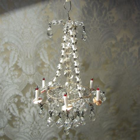 dolls house chandelier dazzling crystal chandelier antique original for doll s house from mllebereux on ruby lane