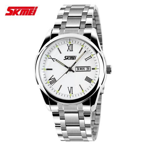 Jam Analog Skmei skmei jam tangan analog pria 9056c white jakartanotebook